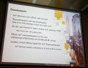 un risque IoT et ransomware